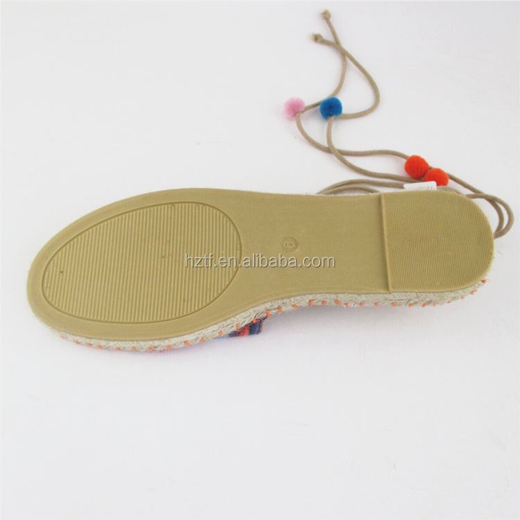 Best design style leather espadrilles soles shoes from china
