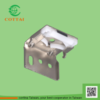 COTTAI louvers window curtain steel brackets for venetian blinds