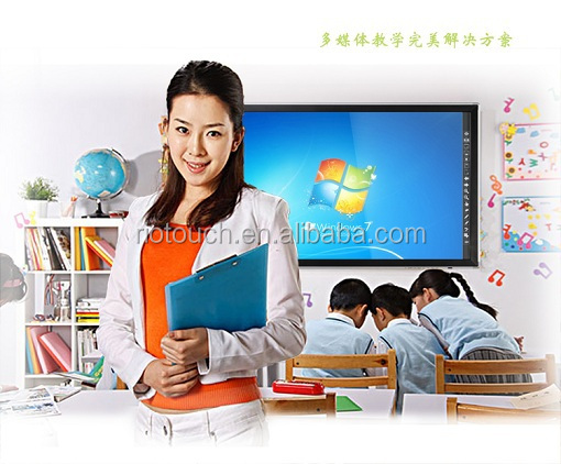 Popular 65 inch infrared screen monitor big size touch overlay for education business confrenece