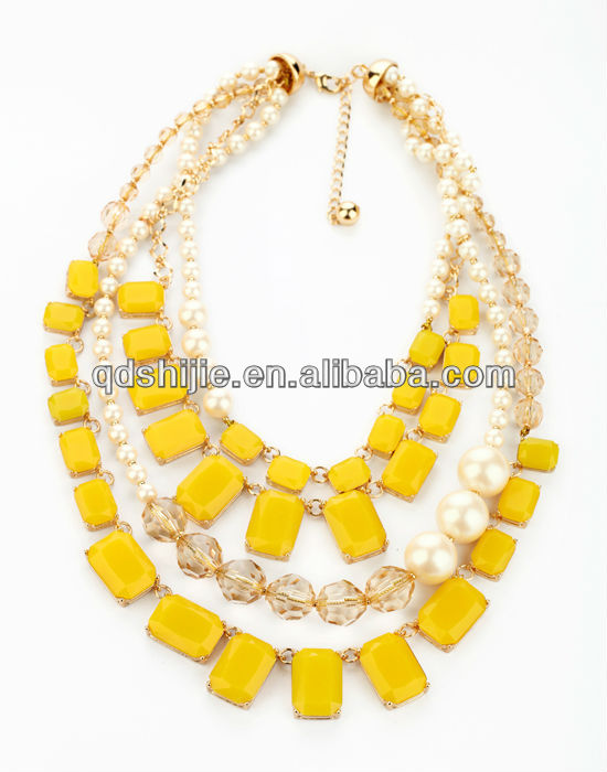 Resin Forever Yellow Neon Necklace