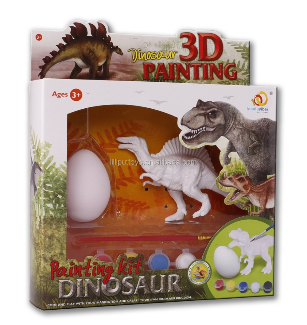 Kids educational painting toy 3D dinosaur painting kit