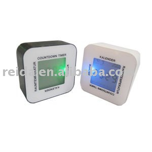 Four side Rotation LCD alarm promotional clock