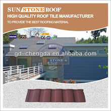 brown color metal roofing tile used as building materail made in guangzhou