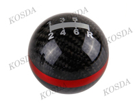 Car Spart Parts 5/6 Speed Auto Gear Shift Knobs, M10x1.5 Carbon Fiber Shift Gear Knob