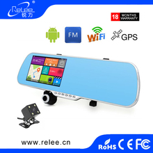 5.0 inch Dual Lens Car DVR Rear View Camera Full HD 1080P Car Camera Rearview Mirror Night Vision Dashcam