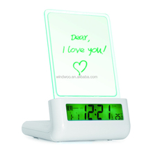 Digital LED motion memo Board USB Backlight table message board alarm clock for promotional gifts