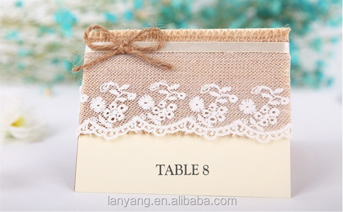 Burlap & Lace Wedding Table Card Number Place Holder Rustic Country Woodland Table Sign