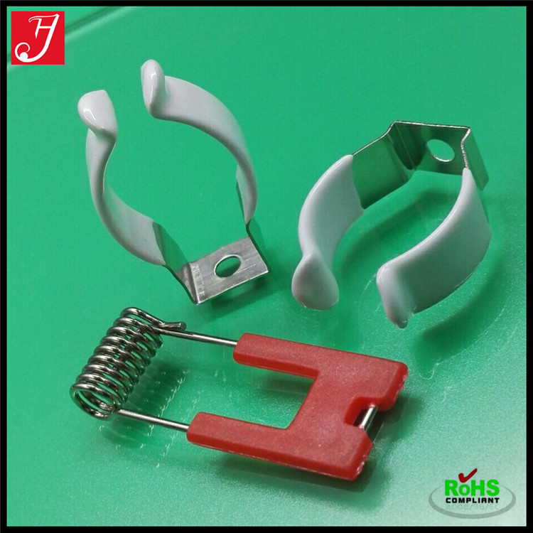 U shape 65Mn spring steel mounting T8 lamp clip ( to fix the T8 tube)
