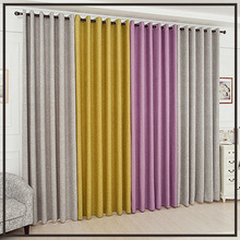 High Quality Plain Faux Cotton Linen Curtains Fine Window Drape