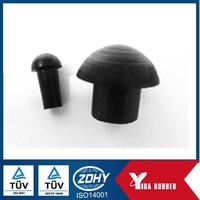 Chinese factory custom moled rubber plug/ hole inserted rubber plug/ Nitrile mushroom rubber plug