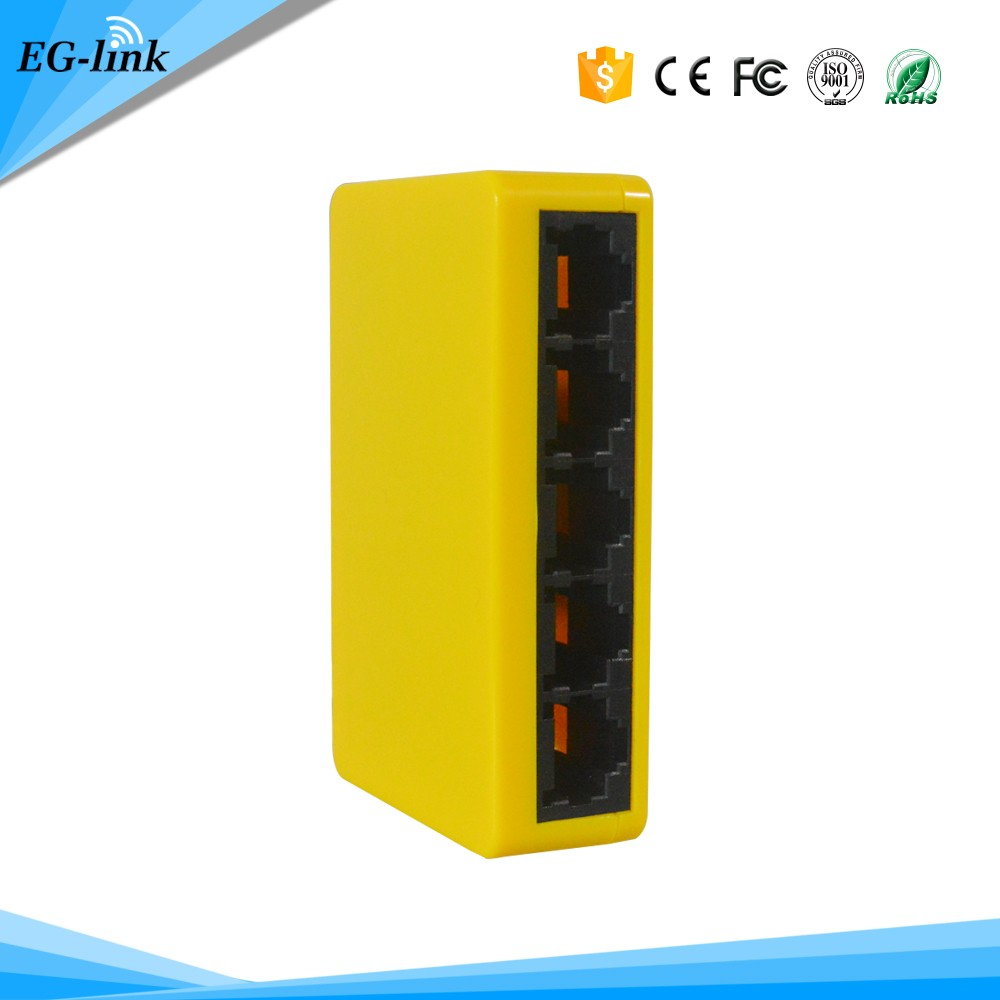 Cheap price 10/100M 5 Port Ethernet WiFI Router Switch/