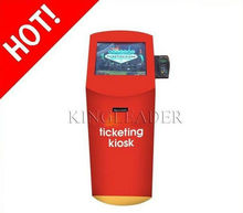 Self-service Ticket Vending Touchscreen Kiosk With POS PINPAD ,Thermal Printer