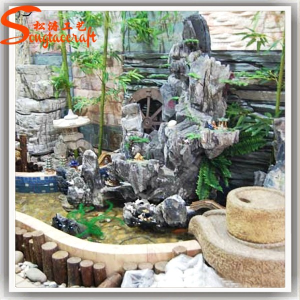 garden decoration landscaping slate rock artificial water