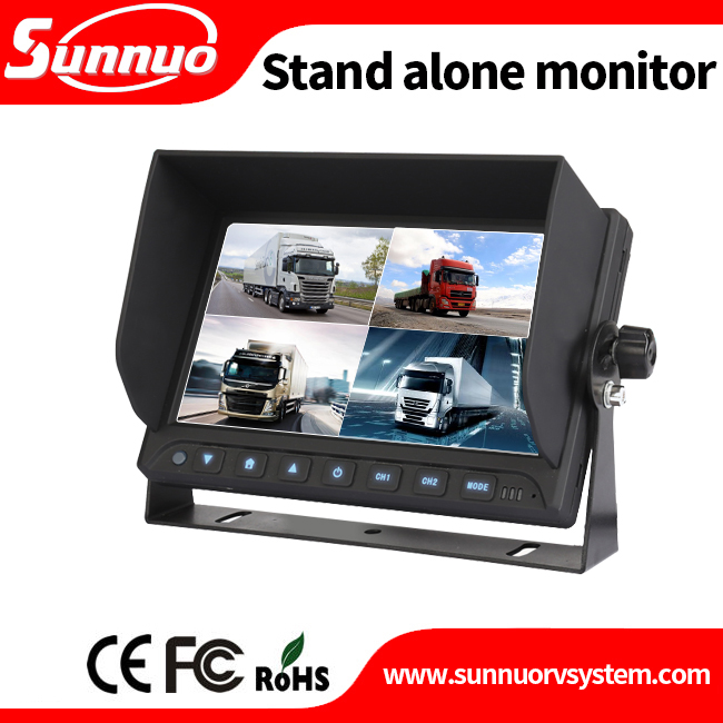 "7"" Car Mirror Reverse 2 AV Inputs Color Display Rear View TFT LCD Monitor with touch button"