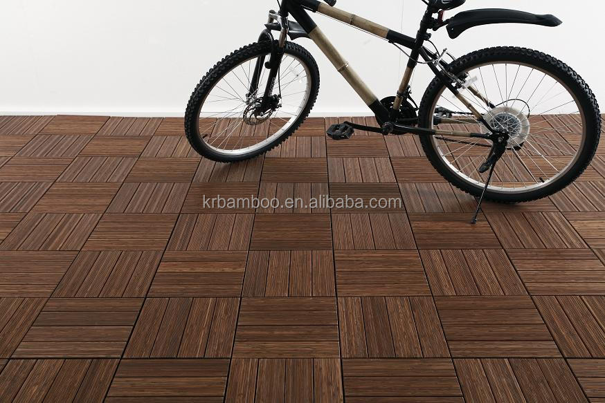 Wholesale Waterproof Solid Bamboo Decking Floor Covering