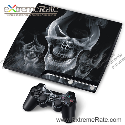The Darkness Skull Case Skin Stickers For PS3 Slim Console Controller Decal
