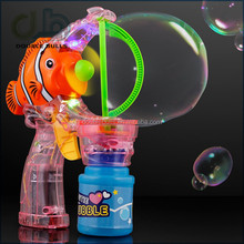 Flashing lights/ music/ 2 bottle pots bubble gun / Clown Fish Bubble Gun