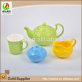 2015 New design chinese cheap many size LD14004 kids porcelain tea set for wholesales