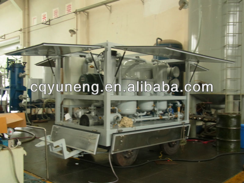 Mobile Dielectric Oil Treatment Equipment High Efficient Dehydration/Degassing Plant