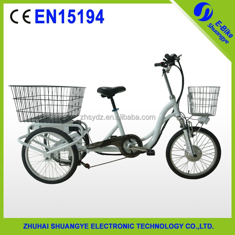 2015 hot design 20 inch wheel tricycle electric bike with conversion kit