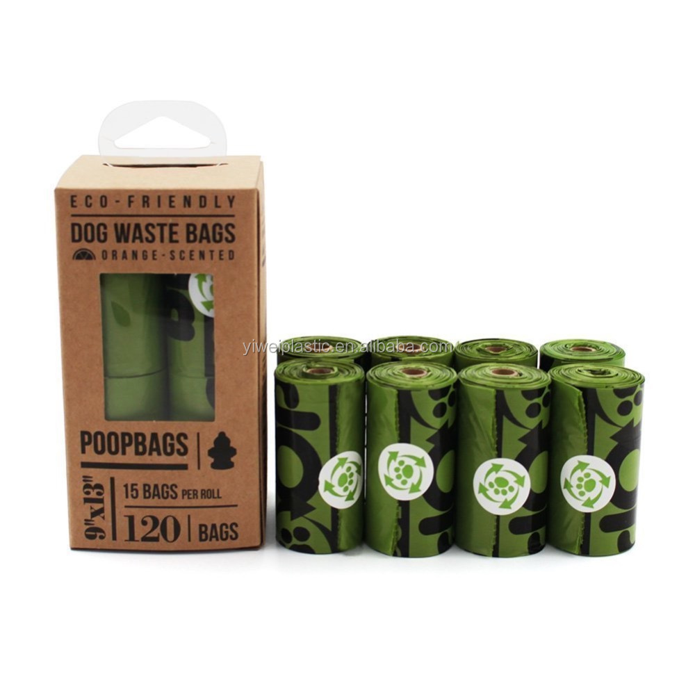 Doggie Dog Poop Bags - Dog Bags for Poop - Eco-Eco on a Roll Pet Waste PoopBags