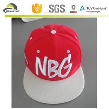Two tone leather strap snapback hat custom,rope snapback