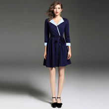 Customized new style most popular women lady formal blouse and skirt sexy dress
