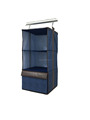 Imitation Jeans 3 shelf hanging sweater organizer with 1 drawer multifunctional storage