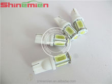 Car White Red Blue Green Amber Pink Light 5 SMD COB LED T10 W5W 147 168 194 Wedge Instrument Side Bulb Lamp DC 12V