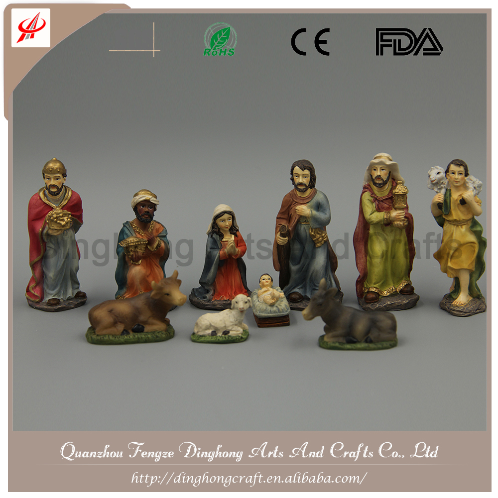 China Handmade Craft Wholesale Figures Decoration Nativity Set In House