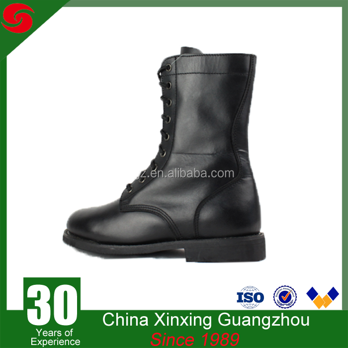 Military and army use 8inch full grain leather rubber outsole boots