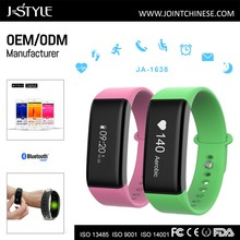 j style Heart rate monitor wristband watch step count smart bracelet bluetooth activity fitness tracker