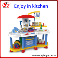 Enjoy In Kitchen Kids Funny Jumbo Easy to Assemble Educational Block Toys Intelligent Kids DIY Kitchen Toy Set