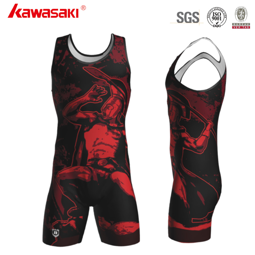 China Manufacturer Cheap Custom Sublimated Wrestling Singlets for Sale