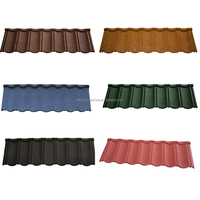 Chinese colorful stone coated metal asphalt roofing shingles