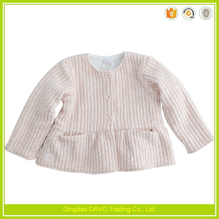 Latest fashionable style baby knitted cotton jacket baby fancy jacket