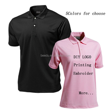 Fancy brand men t-shirt of the Polo With the Quick- Dry 100%Polyester embroidered Printing