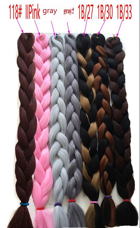 82inch synthetic marley hair ombre box braiding hair jumbo braids for black women