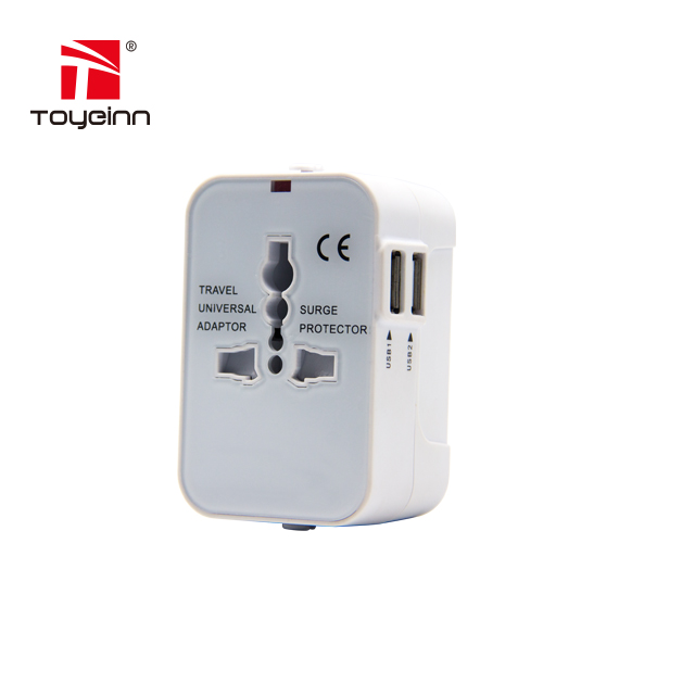 Universal International World Wide Multi Travel Plug Adapter 5V2.1A Travel Charger with 2 USB PORT