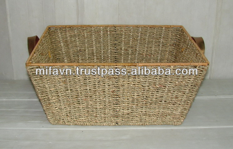 Unique grass basket for sundries & clothing