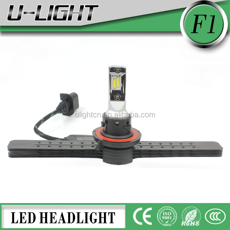 New Arrival F1 H13 Car Led Headlight Kit High Powder 4000LM CSP Chip LED Auto LED Headlight