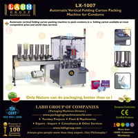 LX-1007: Automatic Vertical Folding Carton Packing Machine for Condoms