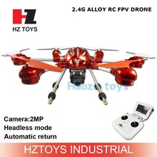 Headless mode 5.8G photo transmission rc FPV alloy china quad copter, hd camera drone professional with lights