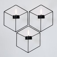 Shadows And Shapes Changed Graphic Patterns Lines Wall Tealight Candle Holder