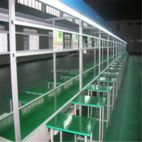 china suppliers mobile phone/led tv solar panel plywood osb production line Paint Iron Type Independent Desk Assembly Line