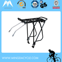 stable aluminum bike carrier rack for rear bag