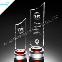 Blank Shield Award Lasered Crystal Showpieces