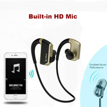 New Best wireless stereo sport MP3 player bluetooth waterproof headset with neckband design