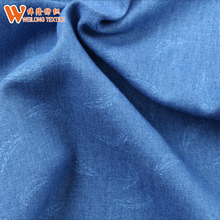 light weight printing denim fabric fashion style
