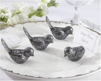 Antiqued love Bird Place Card Holder wedding party table decor bridal shower favor favours gift DHL Freeshipping